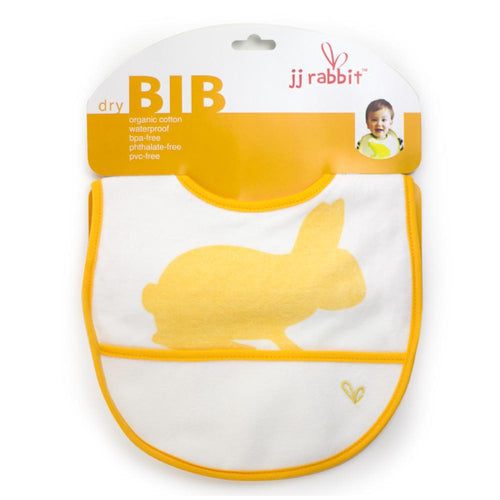 JJ Rabbit® dryBIB™ organic cotton bib in Orange Peel color