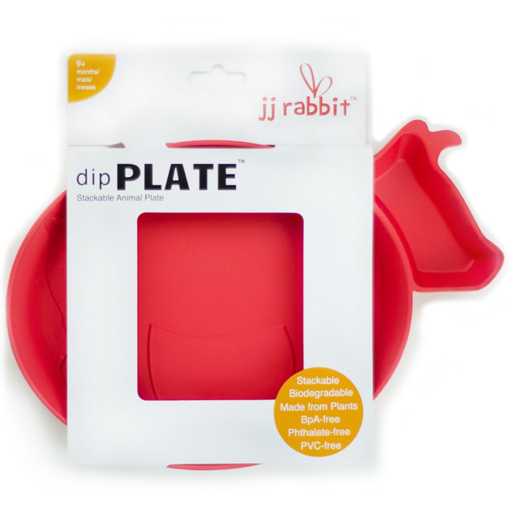 JJ Rabbit® dipPLATE™ in Wet Coral red packaged