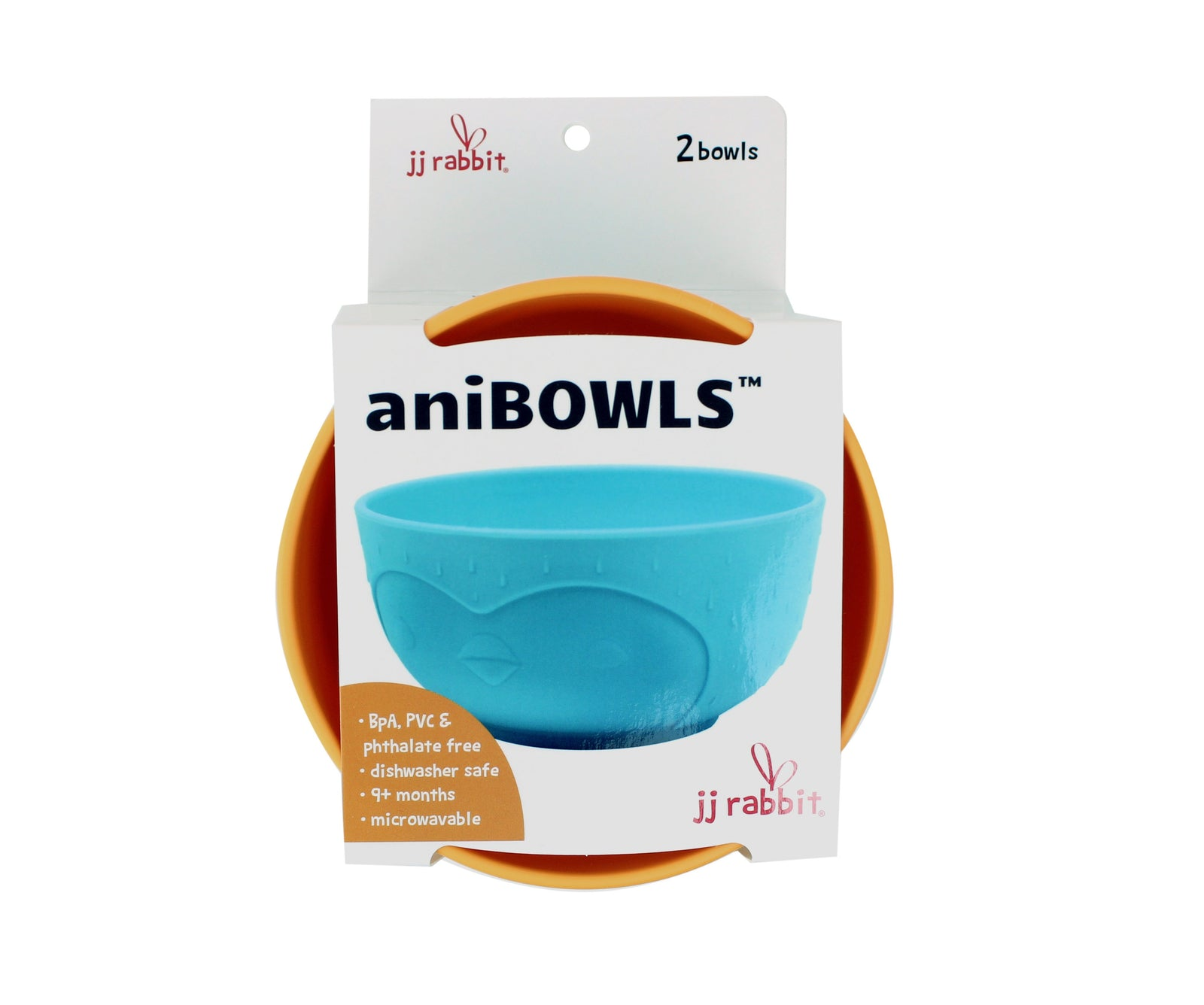 JJ Rabbit® aniBOWLs™ in (Orange & Blue)