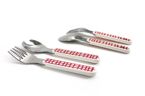 big kid UTENSILS - Rabbit and Cross Hatch (Set of Two)