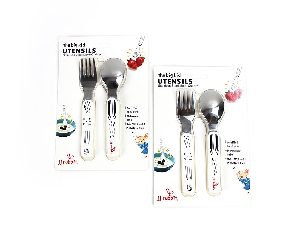 big kid UTENSILS - Rabbit (Set of Two)