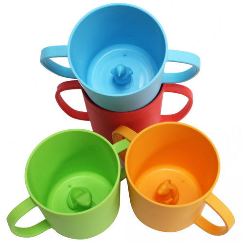 JJ Rabbit® CUPPIES® transitional training cups four pack (Seal Life, Lime Pop, Orange Peel and Wet Coral)