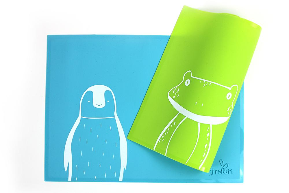 siliMAT™ - Sea Life Penguin + Lime Pop Frog (2-pc Set)