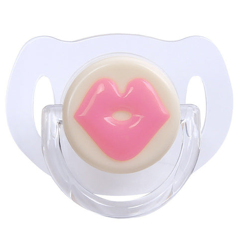 1PC Baby Red Lips Kiss Silicone Dummy