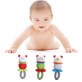 1 Pcs Baby Plush Handbell Teether