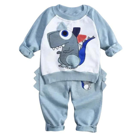 Baby's Dinosaur Outfit  Long Sleeve Tops Clothes Harem Pants
