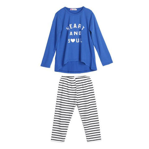 Baby Girl Letter Printed Long Sleeve Tops T-Shirt +Striped Pants