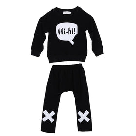 Boys Hi-hi Long Sleeve Tops T-shirt+Pants 2pcs Set