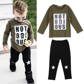 2pcs Children's Long sleeve T-shirt Tops+Pants