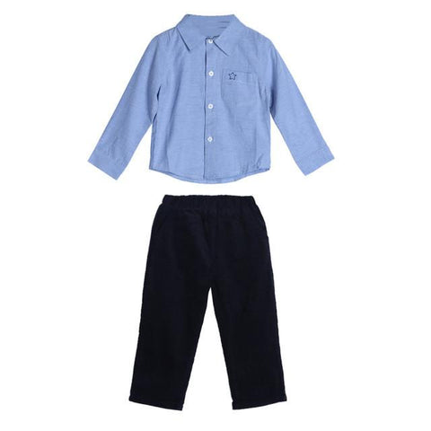 Baby Boys Long Sleeve Shirt & Pants Set