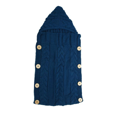 Baby Swaddle Wrap Warm Wool Crochet Knitted Newborn