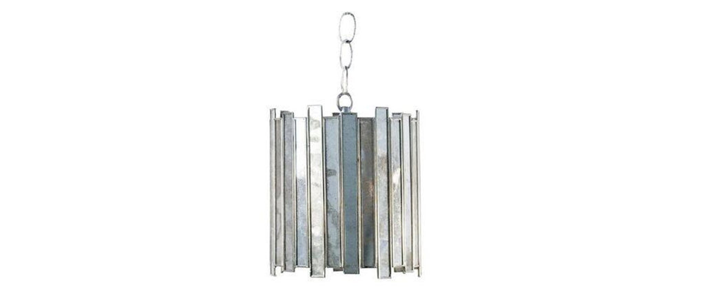Shop Worlds Away Faceted Antiqued Mirror Pendant from Clayton Gray Home