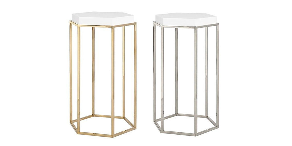 Shop Worlds Away Elsa Side Table from Clayton Gray Home