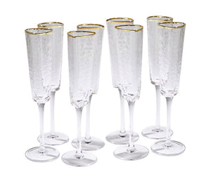 global views hammered champagne glasses set of 8