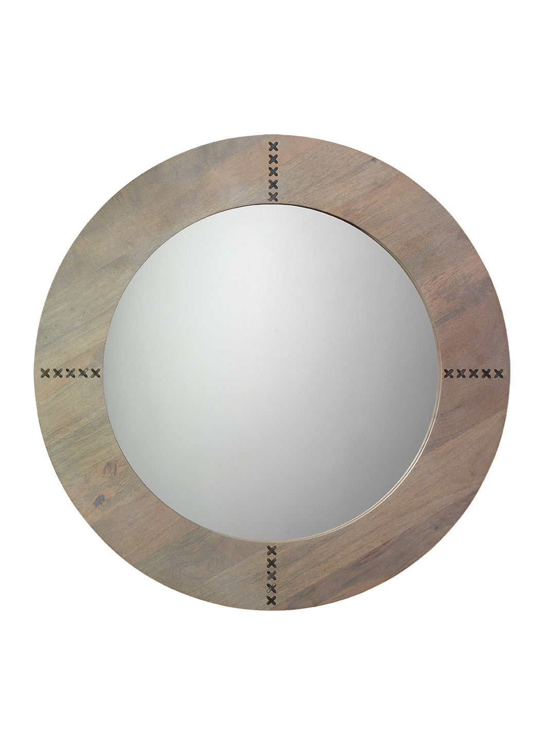 jamie young owen mirror grey round wood