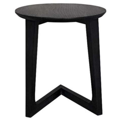 noir cantilever table charcoal black