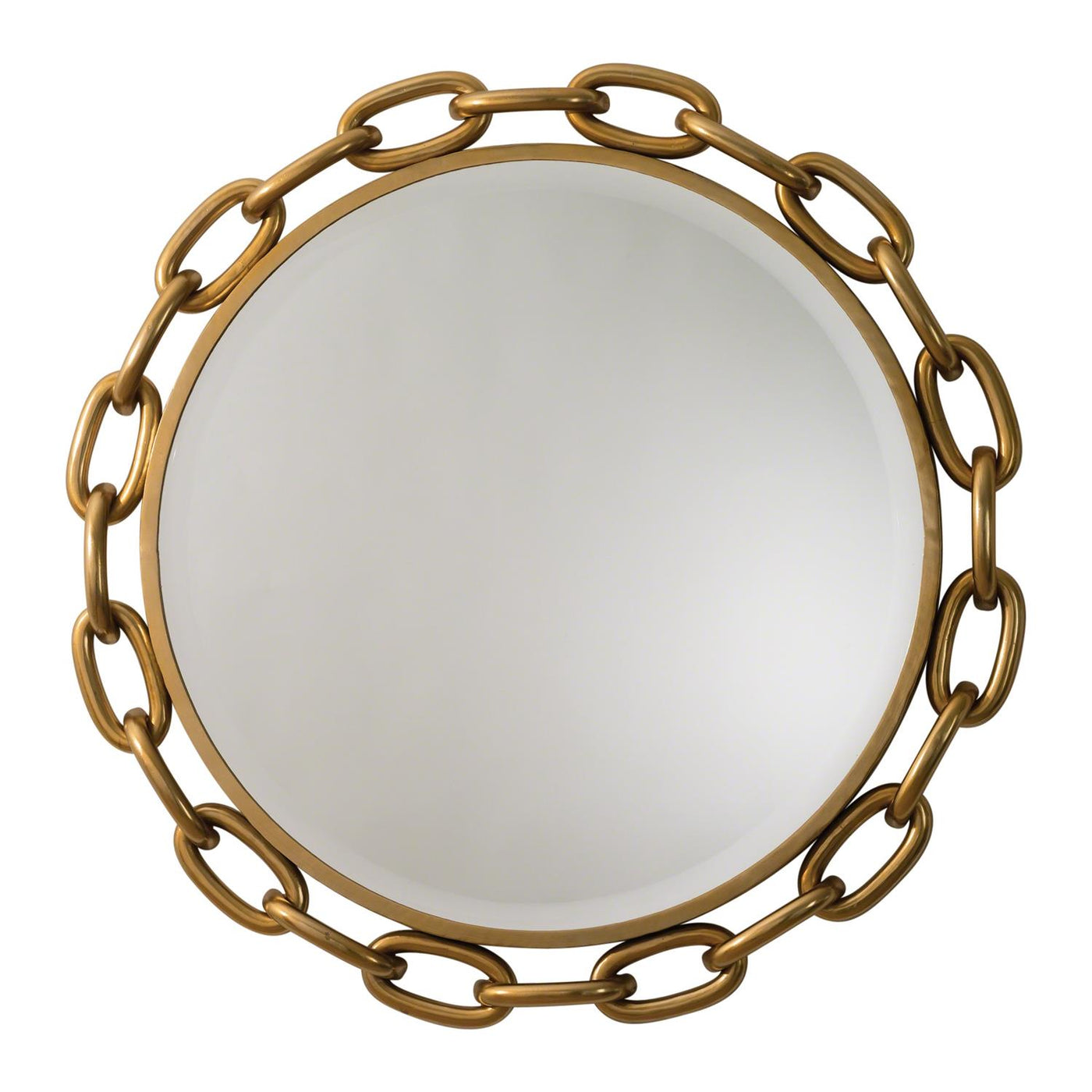Linked Wall Mirror Gold