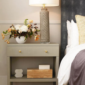 made goods Morgan headboard cool gray shagreen bedroom