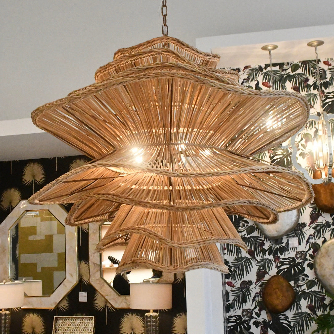made goods Alondra chandelier large size showroom