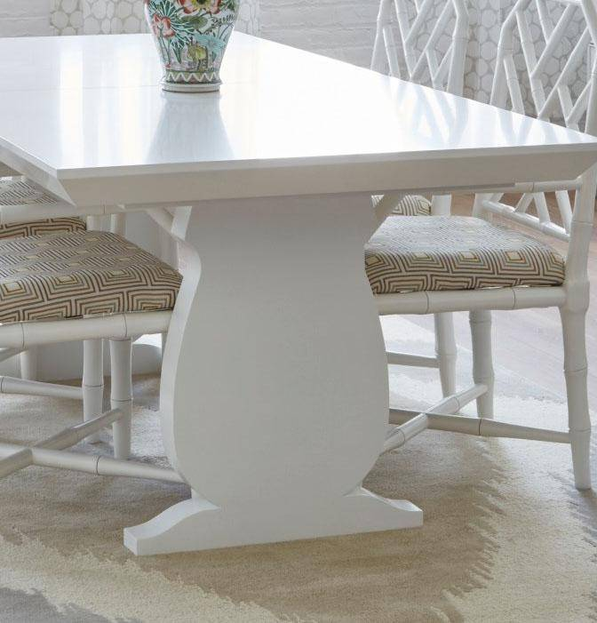 bungalow 5 porto dining table white wood  room setting