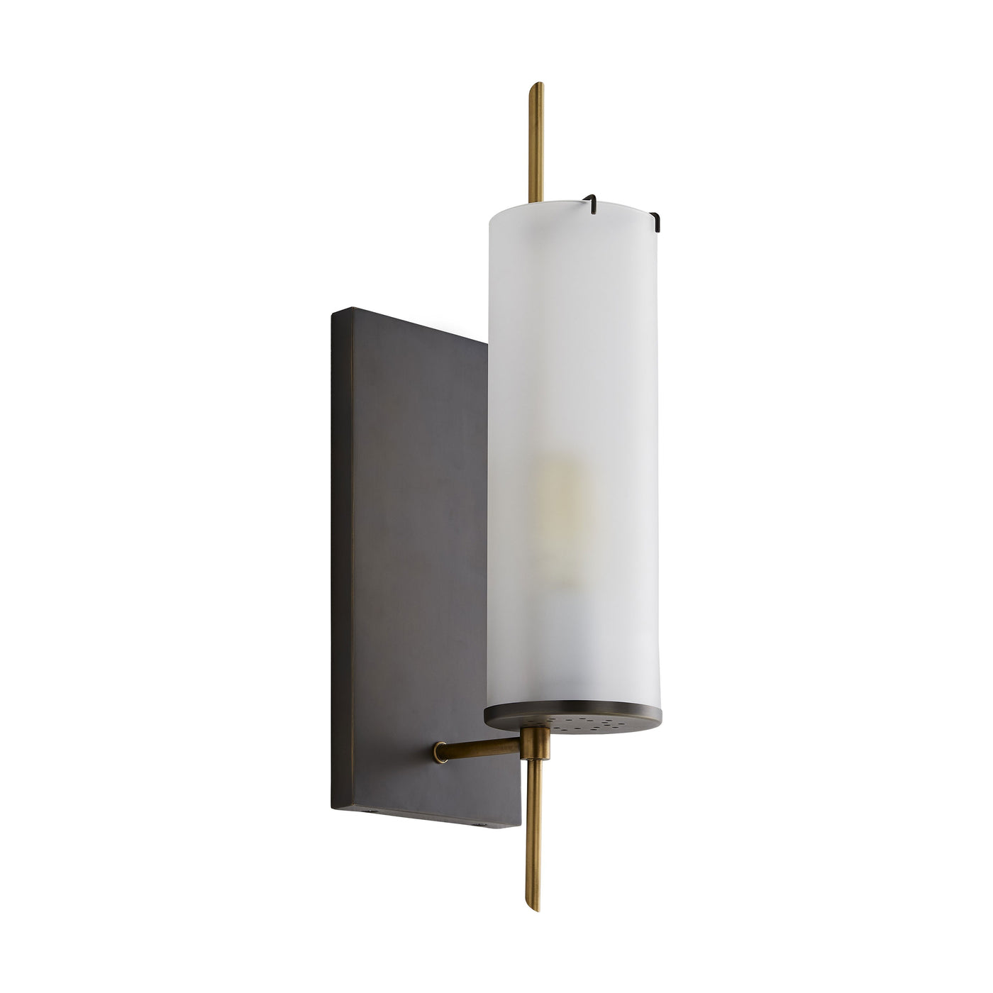 arteriors stefan wall sconce bronze side view