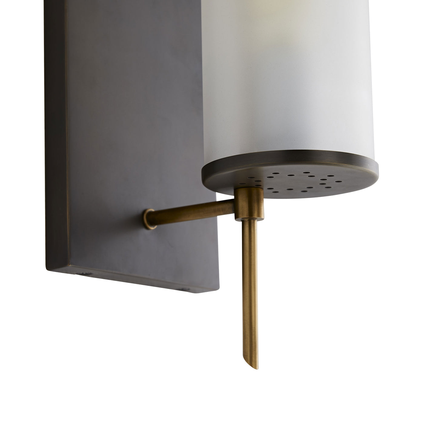 arteriors stefan wall sconce bronze bottom brass