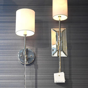 worlds away bristol wall sconce nickel acrylic lighting styled