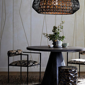 arteriors home Seren dining table round dark wood