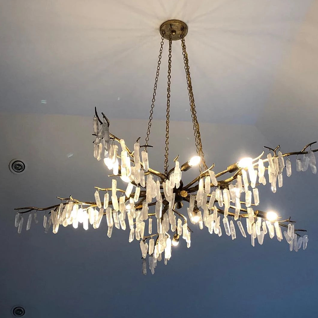 Currey And Company Forest Light Chandelier Gold