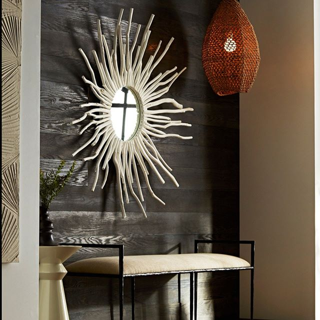 arteriors evers pendant seagrass shade materials showroom