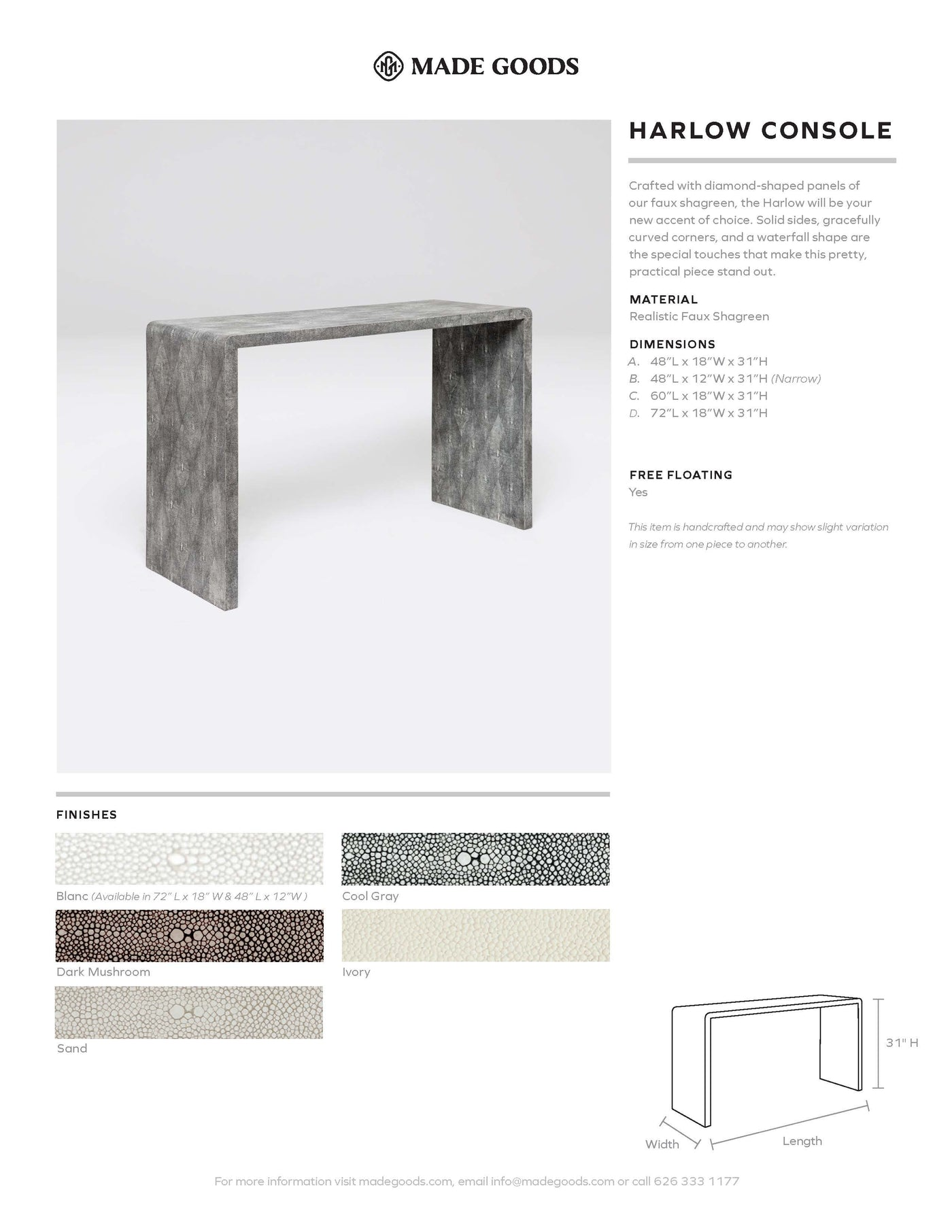 Made Goods Harlow Console Tearsheet
