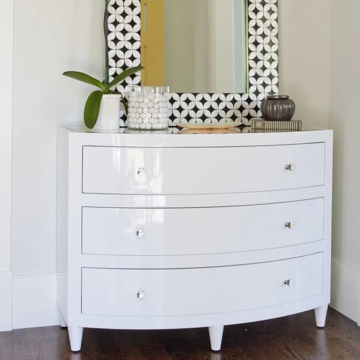 worlds away natalie dresser white lacquer three drawers