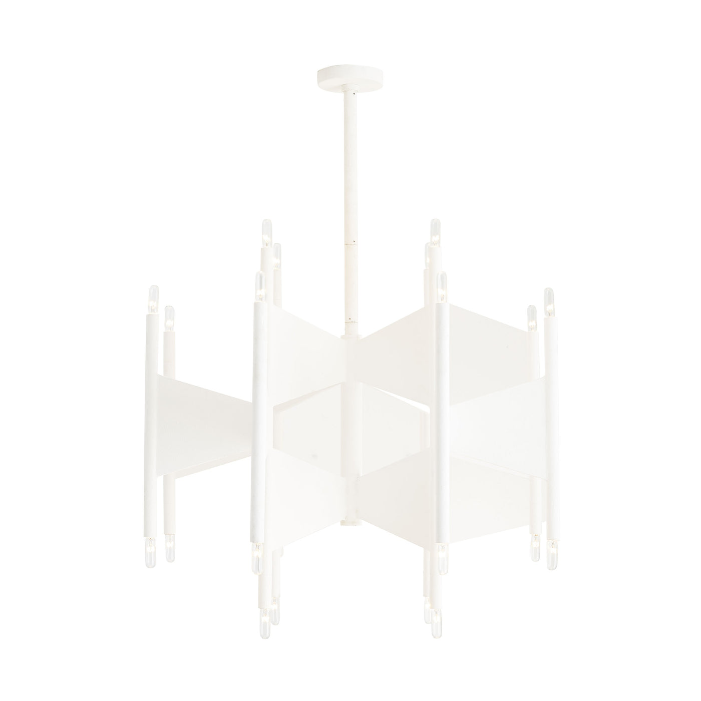 arteriors deskins chandelier  illuminated