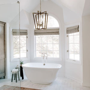 currey and company Bastian chandelier bathroom light