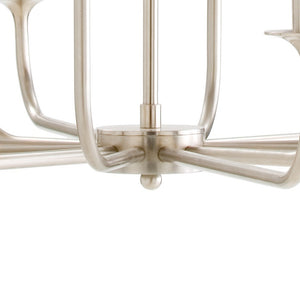 arteriors home breck small chandelier 12 light silver base detail