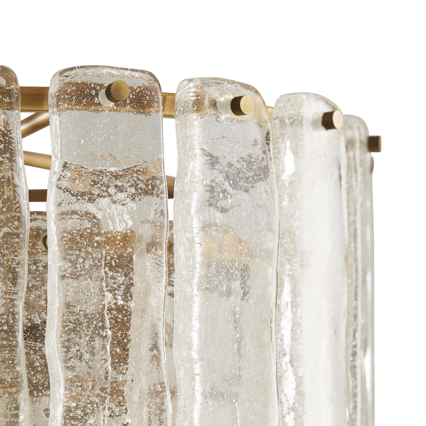 Arteriors Home Larie Chandelier Seeded Glass pendant detail