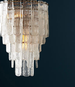 Arteriors Home Larie Chandelier Seeded Glass pendant room view