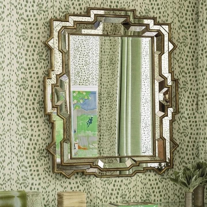 mirror image home dutch brown antiqued mirror wall