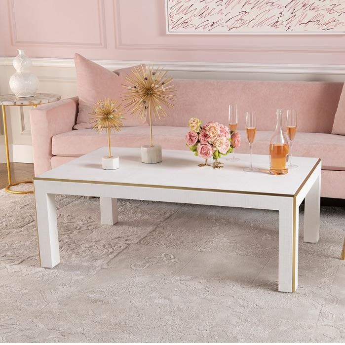 bungalow 5 lauren coffee table white gold