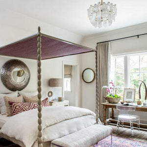 atlanta homes & lifestyle Leon chandelier arteriors bedroom