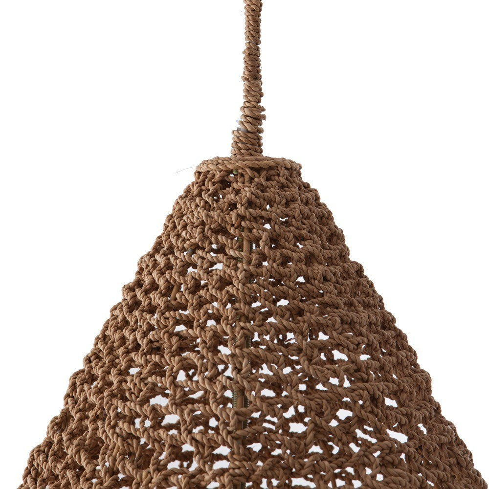 Arteriors Home Evers Pendant Seagrass Natural Hive Top detail