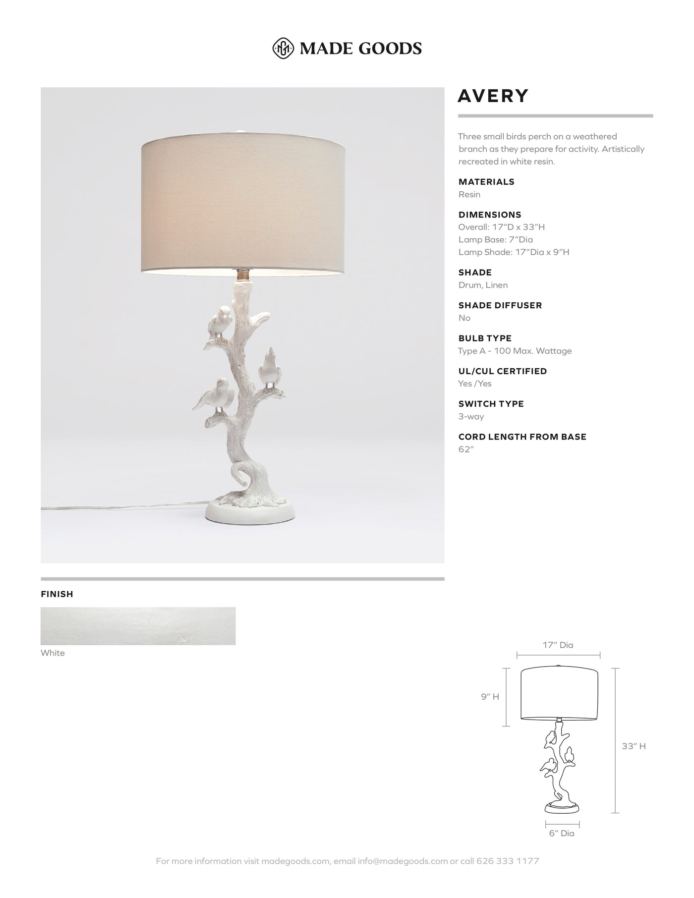 made goods avery lamp table lamp birds perched in tree table lamp for living room bed side table lamp tear sheet