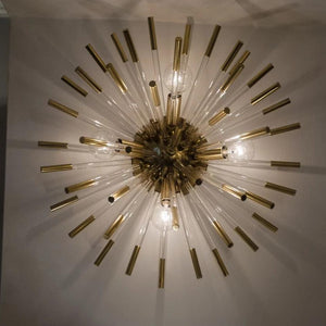 robert abbey andromeda sconce glass brass