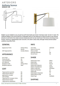 arteriors anthony sconce tearsheet