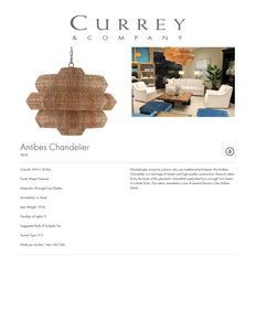 Currey & Company Antibes Chandelier Tearsheet