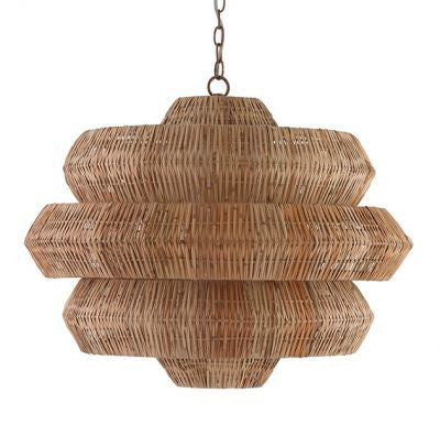 currey and company antibes chandelier iron metal woven brown