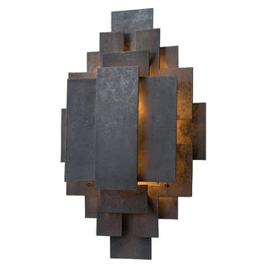 arteriors home trinidad wall sconce blackened iron