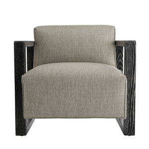 Arteriors Home Duran Chair Fossil Tweed Black Cerused
