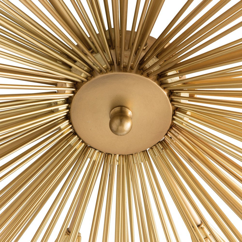 arteriors home roxanne flush mount brass close up spokes