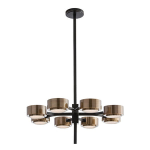 Arteriors home jalen chandelier steel bronze antique brass 8 lights 89974